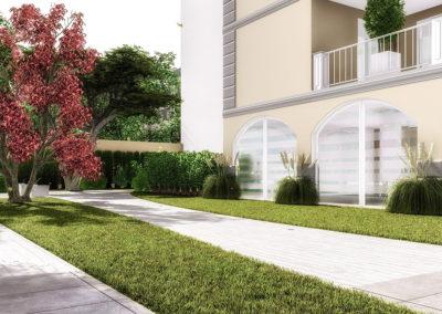 Casa Aurora: gli spazi verdi condominiali
