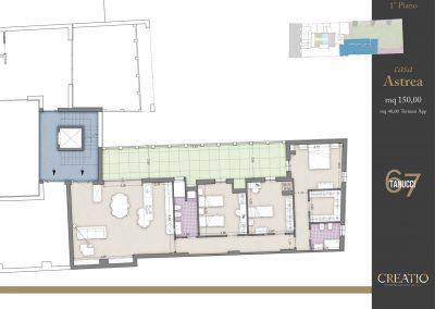 Casa Astrea: la planimetria