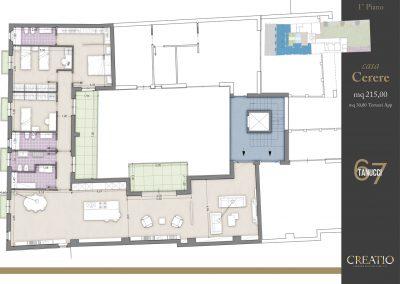 Casa Cerere: la planimetria