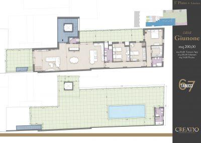 Casa Giunone: la planimetria