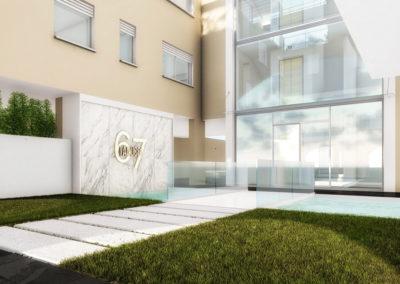 Casa Cerere: vista sulla fontana