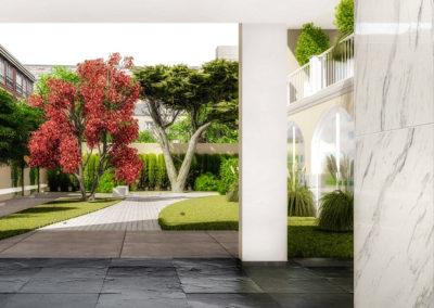 Casa Cerere: vista sugli spazi condominiali