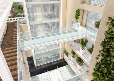 Casa Diana: il ponte con vetri