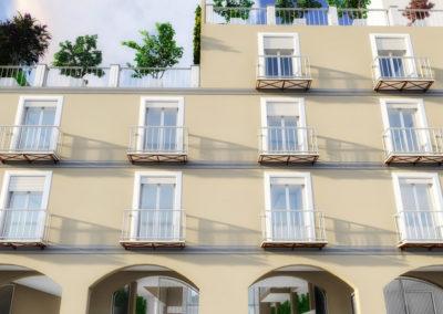 Casa Minerva: vista fronte strada