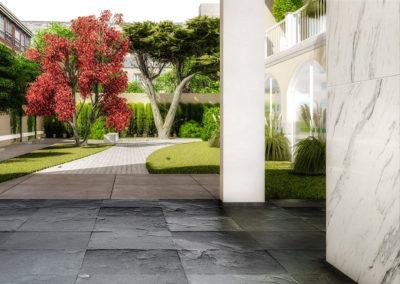 Casa Venere: vista sugli spazi condominiali
