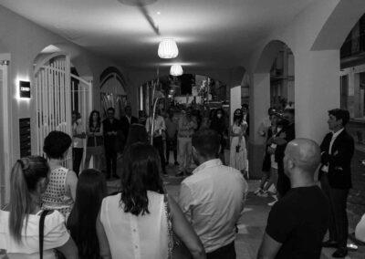 Inaugurazione opera alla residenza di prestigio Tanucci 67