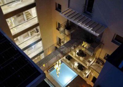 La residenza di prestigio Tanucci 67 vista dall'alto